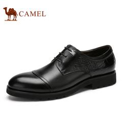 Camel/骆驼男鞋春季时尚男鞋鳄鱼纹商务系带正装皮鞋男