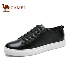 Camel/骆驼男鞋春季纯色百搭潮流休闲滑板鞋系带休闲鞋男