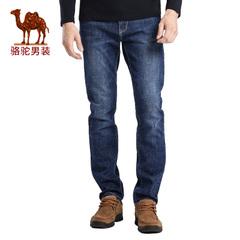 Camel/骆驼男装2016秋季新款时尚都市青年中腰商务休闲牛仔裤长裤