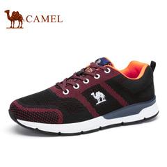Camel/骆驼男鞋2016秋季新品男士轻盈透气舒适潮流运动系带休闲鞋