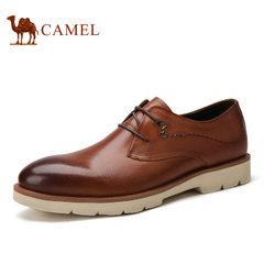 Camel/骆驼男鞋夏季男士英伦潮流复古轻盈舒适休闲皮鞋