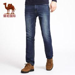 Camel骆驼 春秋季新款时尚商务中腰牛仔裤男 青年直脚休闲长裤