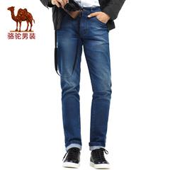 Camel/骆驼男装 春季新款时尚都市商务休闲拉链牛仔裤男长裤