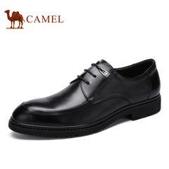 Camel/骆驼男鞋夏季商务正装烧优质烧焦牛皮鞋男士皮鞋