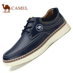 CAMEL骆驼男鞋新品低帮休闲皮鞋系带鞋子日常休闲舒适男士鞋圆头