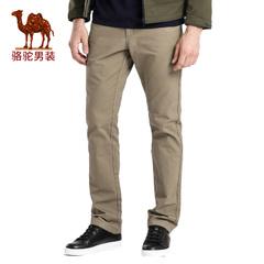 Camel/骆驼男装2016秋季新款宽松中腰居家纯棉休闲裤男士纯色长裤