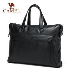 Camel/骆驼男包 男士手提包 商务休闲牛皮包 电脑包