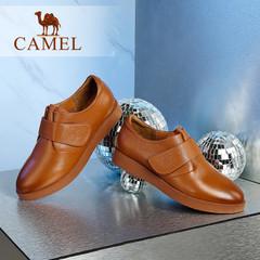 Camel/骆驼女鞋 春季 小圆头擦色女鞋舒适日常女鞋休闲鞋