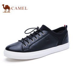 Camel/骆驼男鞋春夏季套脚松紧带时尚真皮品质休闲鞋子男