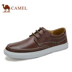Camel/骆驼男鞋春季低帮休闲鞋时尚休闲鞋潮流板鞋男皮鞋子