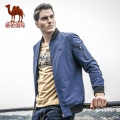 骆驼 秋季新品时尚休闲立领男士夹克 修身长袖保暖外套