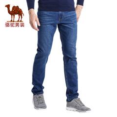 Camel/骆驼男装长裤 春季新款修身小脚商务休闲牛仔裤男长裤