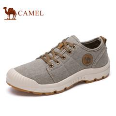Camel/骆驼男鞋春季 系带运动休闲 个性帆布鞋休闲鞋