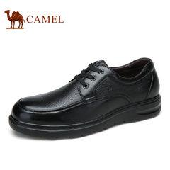Camel骆驼男鞋 男士商务休闲时尚舒适系带休闲皮鞋