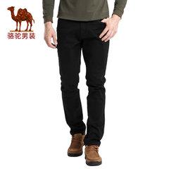 骆驼 秋季新款男士时尚直筒中腰商务休闲裤纯色长裤子