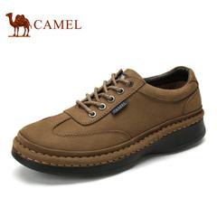 Camel/骆驼男鞋春季男士舒适磨砂牛皮防滑耐磨潮流休闲鞋