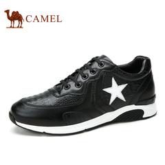 Camel/骆驼男鞋春季鳄鱼纹牛皮潮流男鞋 运动休闲鞋