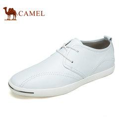Camel骆驼男鞋 春季黑白纯色简约轻盈潮流舒适休闲鞋男