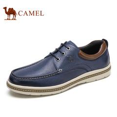 Camel/骆驼男鞋春季日常休闲男鞋复古舒适男士皮鞋