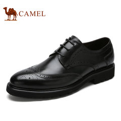 Camel/骆驼男鞋英伦布洛克复古舒适防滑真皮品质商务正装皮鞋
