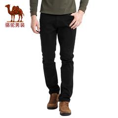 Camel/骆驼男装2016秋季新款男士时尚直筒中腰商务休闲裤纯色长裤
