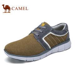 Camel骆驼男鞋 2017春季轻便平跟板鞋舒适时尚运动鞋跑步鞋