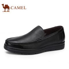 CAMEL骆驼男鞋2017春季新品舒适圆头商务休闲皮鞋套脚耐磨男鞋
