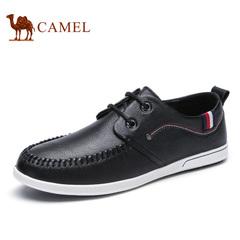 Camel/骆驼男鞋 休闲皮鞋男真皮软底休闲潮鞋圆头 春季