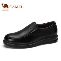 CAMEL骆驼2017男鞋新品舒适商务休闲皮鞋低帮耐磨套脚男士鞋子