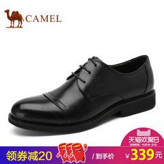 Camel/骆驼男鞋 商务正装皮鞋男圆头系带耐磨三接头皮鞋真皮品质