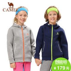 camel/骆驼户外秋冬中大童户外舒适保暖防风连帽卫衣外套