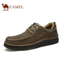 Camel/骆驼男鞋春季 日常休闲耐磨系带男鞋潮鞋子皮鞋