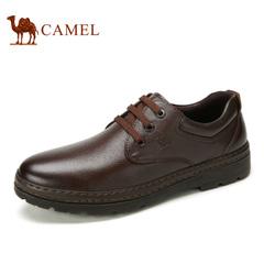 Camel/骆驼男鞋春季商务休闲皮鞋舒适套脚爸爸鞋男士鞋子