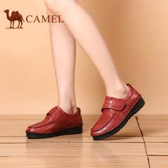 骆驼女鞋柔软舒适手工缝制鞋轻盈耐磨简约便捷女士单鞋平底妈妈鞋