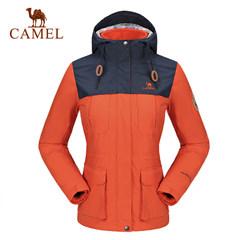 CAMEL骆驼户外冲锋衣 女款防风防水保暖两件套冲锋衣女