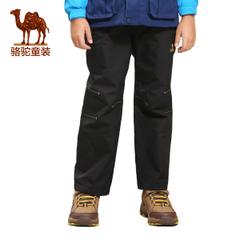 小骆驼童装2016秋冬新款儿童保暖舒适冲锋裤防风防水保暖长裤