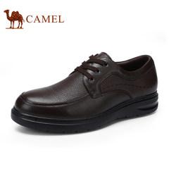 CAMEL骆驼2017新品男鞋圆头系带商务休闲男皮鞋舒适耐磨男士鞋子