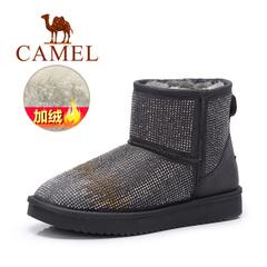 Camel/骆驼短靴 冬季女鞋雪地靴镶钻短靴平底防滑学生靴女靴