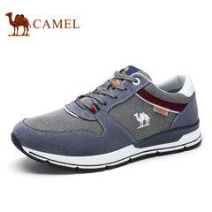 Camel/骆驼男鞋 秋季运动鞋男跑步鞋男士休闲鞋透气反绒板鞋