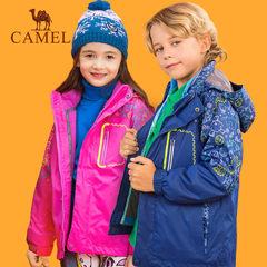 骆驼防风保暖透气防水儿童户外三合一冲锋衣