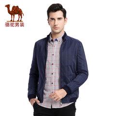 Camel骆驼 新款时尚青年立领格子旅行夹克衫商务休闲外套男