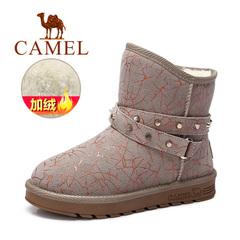 Camel/骆驼雪地靴短靴 秋冬女鞋 保暖雪地靴休闲舒适平跟女靴