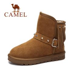 Camel/骆驼雪地靴短靴 2016秋冬新款时尚休闲雪地靴保暖女靴子