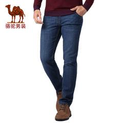 Camel/骆驼男装2016秋季新款时尚商务休闲合体直筒牛仔裤拉链长裤