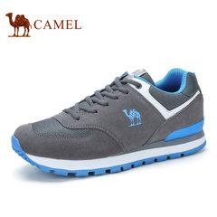 camel/骆驼 男鞋 运动休闲跑步鞋 户外牛皮鞋 潮流情侣款徒步鞋女