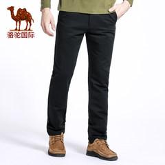 骆驼 秋季新款时尚纯棉休闲裤男 直筒中腰小脚长裤