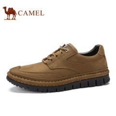 CAMEL骆驼牌男鞋新品舒适耐磨手工缝线鞋男士低帮防滑休闲鞋