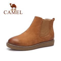 Camel/骆驼短靴 2016秋冬新款简约休闲套脚舒适磨砂短靴裸靴女靴