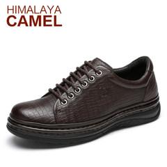 喜马拉雅骆驼男鞋 春季新品牛皮日常休闲男士牛皮鞋