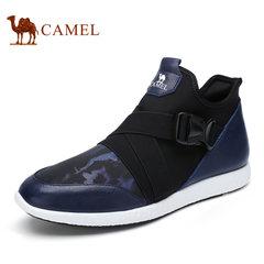 Camel/骆驼男鞋秋季 时尚休闲运动鞋套脚鞋舒适休闲男鞋子